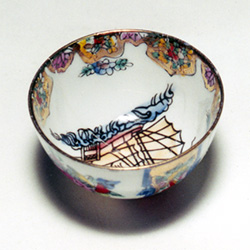 repaired china bowl